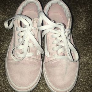 Pink Vans Old Skool Skate Shoe, Size 1